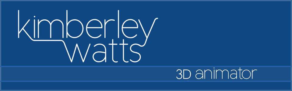 Kimberley Watts 3D Animator -